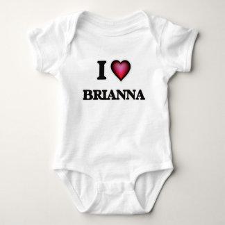 I Love Brianna Baby Bodysuit