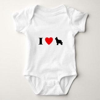 I Love Briards Baby Bodysuit
