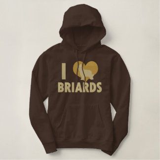 I Love Briards Embroidered Shirt (Hoodie)