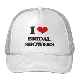 I Love Bridal Showers Trucker Hats