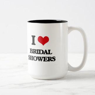 I Love Bridal Showers Mugs