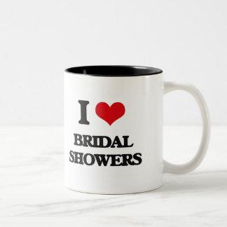 I Love Bridal Showers Coffee Mugs