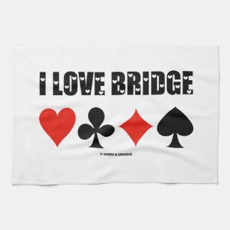 I Love Bridge Card Suits Bridge Attitude Kitchen Towel