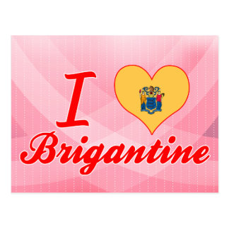 I Love Brigantine, New Jersey Postcard