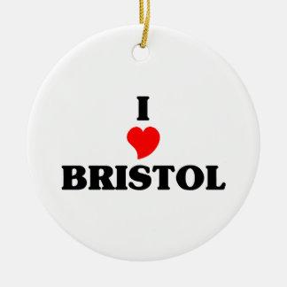 I love Bristol Cn Ceramic Ornament
