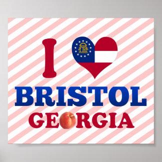 I Love Bristol, Georgia Posters