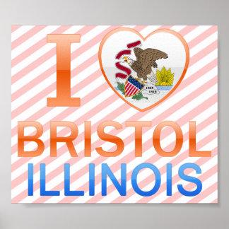 I Love Bristol, IL Posters