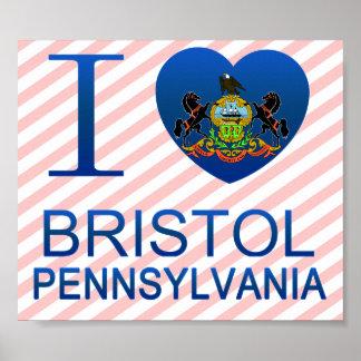 I Love Bristol, PA Poster