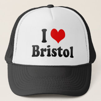I Love Bristol, United Kingdom Trucker Hat