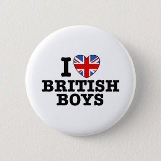 I Love British Boys 2 Inch Round Button