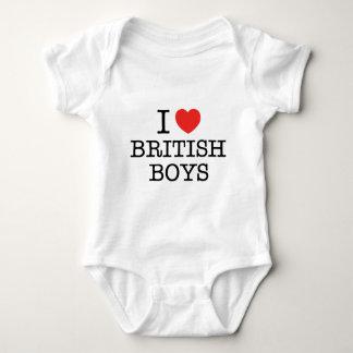 I Love British Boys Baby Bodysuit