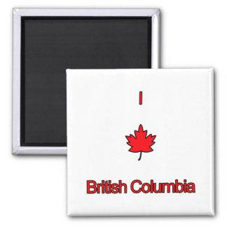 I Love British Columbia Magnets