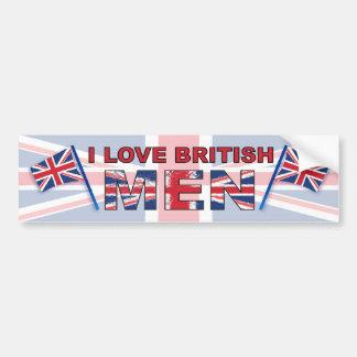 I love British men Bumper Sticker