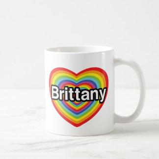 I love Brittany: rainbow heart Coffee Mug