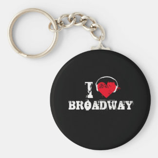 I love broadway basic round button keychain