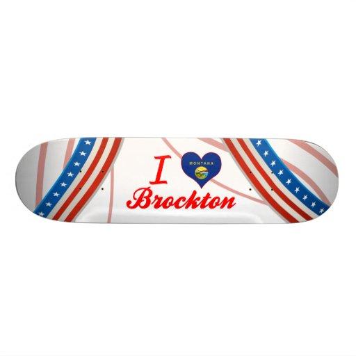 I Love Brockton, Montana Skate Decks