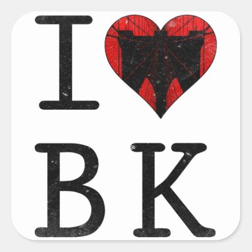 I Love Brooklyn BK NYC Stickers