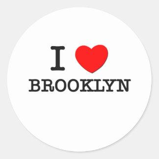 I Love Brooklyn Round Sticker