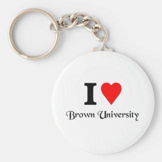 I love Brown University Key Chain