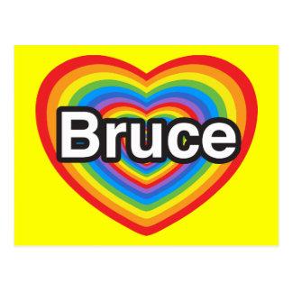 I love Bruce. I love you Bruce. Heart Postcard