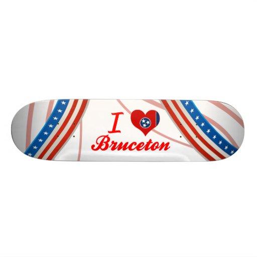 I Love Bruceton, Tennessee Custom Skateboard