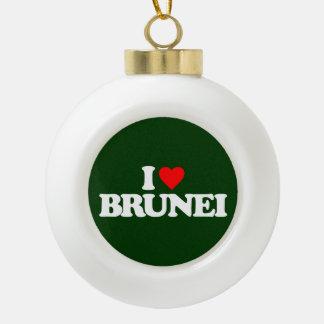I LOVE BRUNEI ORNAMENTS