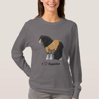 I Love Buckskin Gypsy Vanner Draft Horses T-Shirt