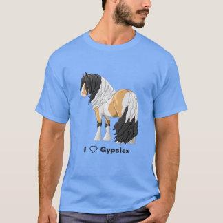 I Love Buckskin Pinto Gypsy Vanner Draft Horses T-Shirt