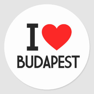 I Love Budapest Classic Round Sticker