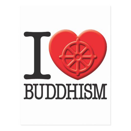 I Love Buddhism Postcards