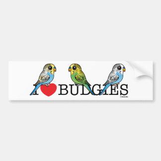 I Love Budgies Bumper Sticker
