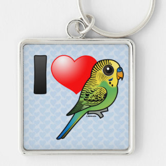 I Love Budgies Keychain