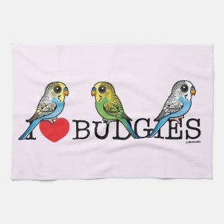 I Love Budgies Kitchen Towel