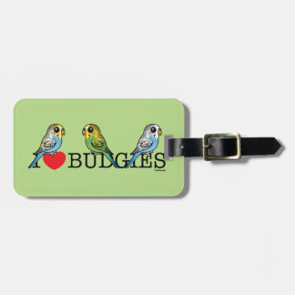 I Love Budgies Luggage Tag