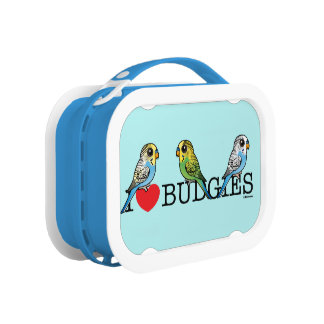 I Love Budgies Lunch Box