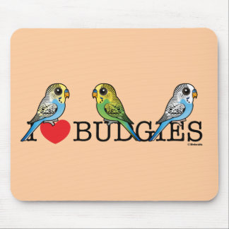 I Love Budgies Mouse Pad