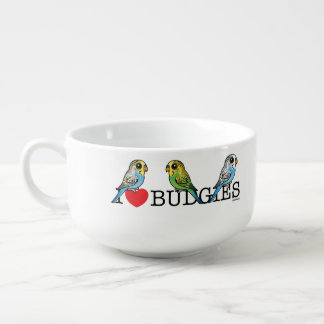 I Love Budgies Soup Mug
