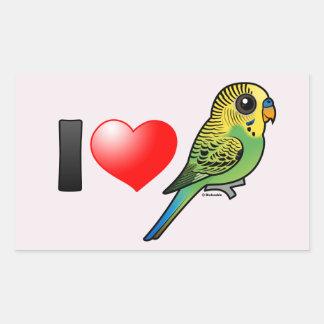 I Love Budgies Sticker