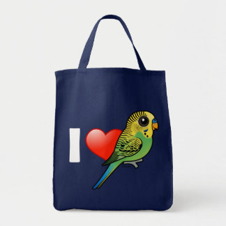 I Love Budgies Tote Bag