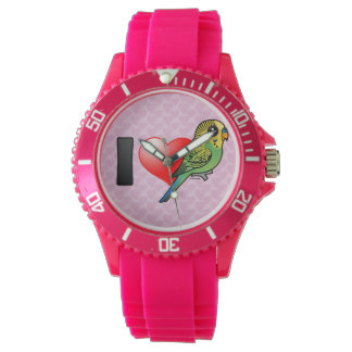I Love Budgies Watch