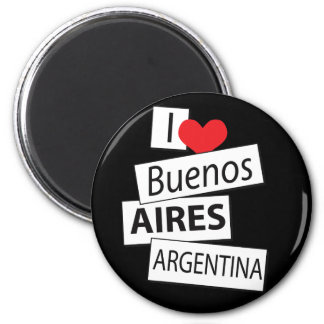 I Love Buenos Aires 2 Inch Round Magnet