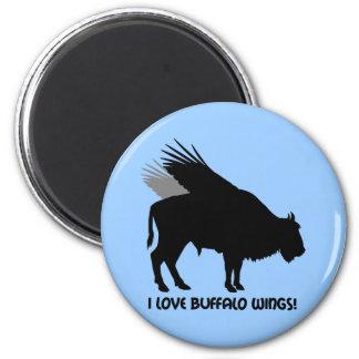 I love buffalo wings fridge magnets