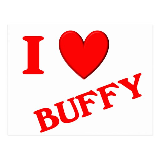 I Love Buffy Postcards