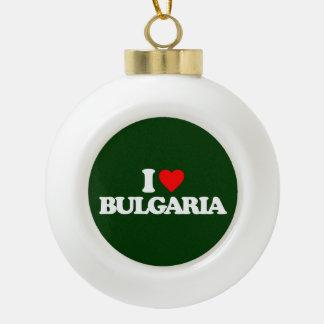 I LOVE BULGARIA CERAMIC BALL ORNAMENT