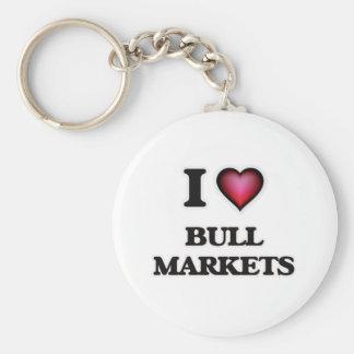 I Love Bull Markets Keychain