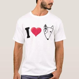I Love Bull Terrier Black T-Shirt
