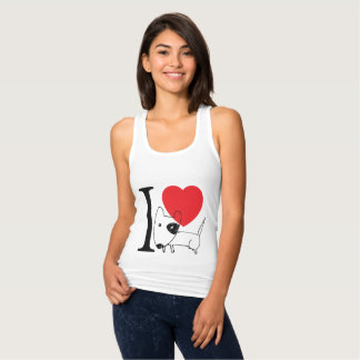 I love Bull Terrier Tank Top