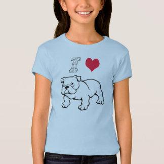 I Love Bulldog T-Shirt