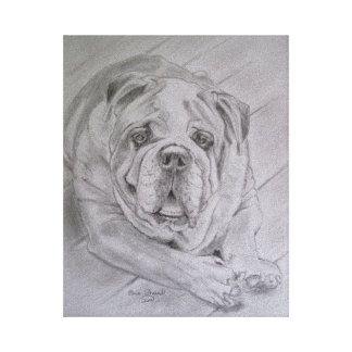 """I Love Bulldogs"" Canvas Print"