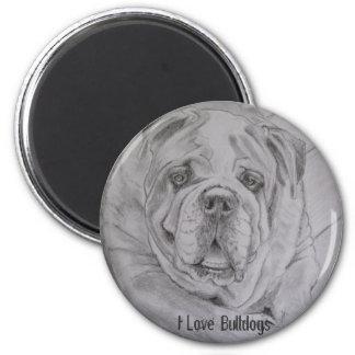 I Love Bulldogs Magnet
